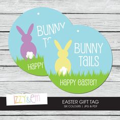 Printable easter tag bunny tails easter gift tag printable gift easter gift tag printable easter tag bunny tails easter basket tag printable gift tag kids easter gift gift tags for favors negle Images
