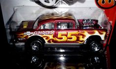 HOT WHEELS 2017  FLAMES  # 2/10   '55 CHEVY BEL AIR GASSER #HotWheels #Chevrolet