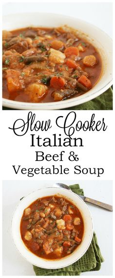 I Thee Cook: Slow Cooker Italian Beef and Vegetable Soup
