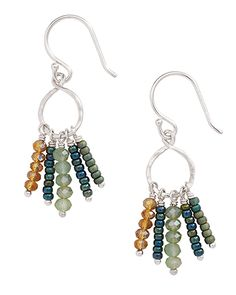 French Wire Drops. Glass, Sterling Silver. High-quality, high-fashion Sterling Silver Jewelry that allows women to design the life of their dreams.  Available at Silpada.com #SilpadaStyle