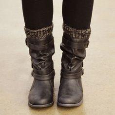 Description Gender£ºWomen Season£ºWinter/Autumn Type£ºFashion Occasion£ºOffice/Daily life/Date Color£ºgray/brown/black Upper Material£ºFaux leather Lining£ºCotton Sole Material£ºRubber Heel Low Heel Boots, Low Heels, Heeled Boots, Shoe Boots, Ankle Snow Boots, Boots Online, Riding Boots, Uggs, Winter Fashion