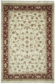 This beautiful Handmade Knotted Rectangular rug is approximately 6 x 8 New Contemporary area rug from our large collection of handmade area rugs with Persian Tabriz style from China with Wool