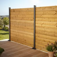 Blooma Neva Steel Slotted Fence post (H)1.83m (W)70mm. The Neva modular fencing system has an innovative choice of wood  composite and metal components to mix and match for total freedom of design. Simple to plan  this easy-to-use  stylish and flexible system offers no end of practical and decorative possibilities for your garden.. This Neva steel slotted fence post  part of the Neva modular fencing range  is designed for use with Neva slats and panels to hold them in place  allowing you to crea