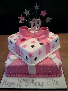 Birthday Cakes Birthday Cake Images For Girls Clip Art Pictures Pics With Name Ideas With Candles Love Designs 16th Birthday Cake For Girls, 21st Birthday Cakes, 18th Birthday Cake Designs, Sweet 16 Cakes, Cute Cakes, Fondant Cakes, Cupcake Cakes, 18th Cake, Occasion Cakes