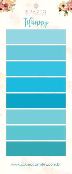 Tons de Verde Tifanny - Verde Turquesa - Paleta de cores madrinhas de casamento, Vestido azul tifanny Azul Tiffany, Verde Tiffany, Colour Pallete, Color Combos, Color Schemes, Wedding Tips, Dream Wedding, Color Harmony, Paint Colors For Home
