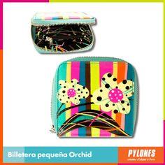 #Billetera pequeña Orchid #DíaDeLaMujer  Pylones Colombia