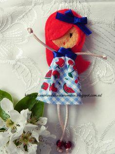 Quecas de Fieltro / Dolls felt mod7 http://accesoriosdulcescaramelos.blogspot.com.es/search/label/Mu%C3%B1ecas%20%28Quecas%20de%20Fieltro%29