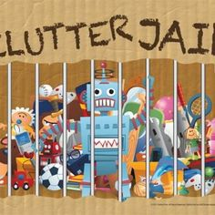 "A cute printable sign to hang on your bin/basket and when kids leave things out – they go in the ""clutter jail"".  Then to get them back, they have to draw a Community Chest card and do the associated chore."