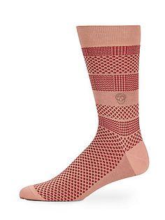 Skull Striped Cotton-Blend Socks