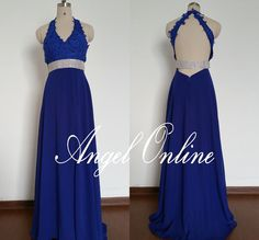 Royal Blue Prom Dress 2015-Backless Prom by Angelonlinedress