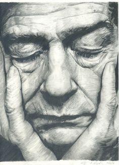 Old man, drawing