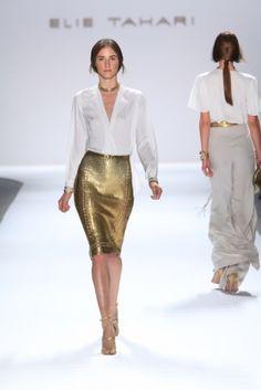 Elie Tahari Gold Skirt