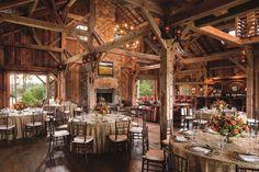 The Sandy Creek Barn at The Ritz-Carlton Lodge in Greensboro, Georgia. Fairytale weddings really can come true.