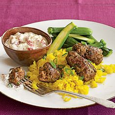 Made it and loved it. If your into Mediterranean food this will hit the spot (I didn't have coriander but I hardly noticed) Quick Lamb Kofta with Harissa Yogurt Sauce | MyRecipes.com