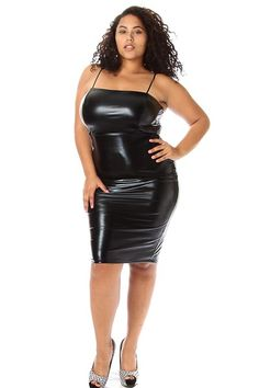 Plus size leather mini dresses