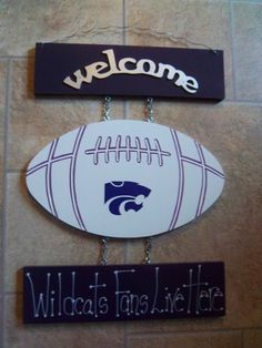 New Kansas State Wildcats Football Welcome Sign 15.99
