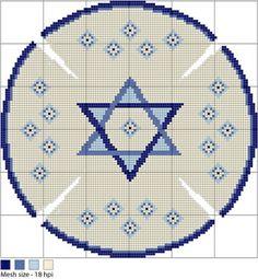 Magen David Kippah Needlepoint Pattern