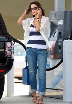 J Brand Aidan Boyfriend Jean in Gemini - as seen on Alessandra Ambrosio