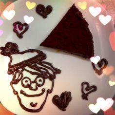 生チョコタルトとウォーリー*Raw chocolate tart and Wally