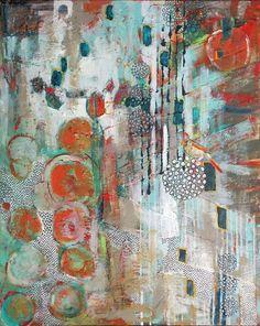 """Looking In"" by Jennifer Drummond Ferris; Mixed Media ~ 30"" x 24""; $695  © 2012 Jennifer Drummond Ferris"