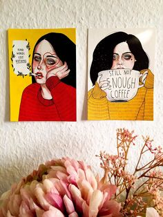 Art and flowers. Illustrations by Laura Klinke. Instagram: lauraklinke_