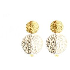 GFG Jewellery - Dafna Coin Earrings (£185) ❤ liked on Polyvore featuring jewelry, earrings, polish jewelry, coin earrings, cream jewelry, coin jewellery and earring jewelry