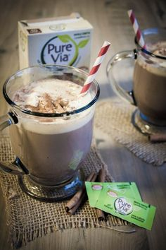 Cinnamon-hot-chocolate-with-pure-via-sweetener, cinnamon hot chocolate, cinnamon hot cocoa,  Recipe here: http://www.sweetphi.com/cinnamon-hot-cocoa-made-pure-via/ #PureViaSweet #PMedia #ad