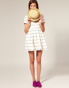 Boutique by Jaeger Stripe Prom Dress at asos