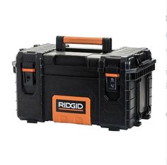 Tool Box Pro Organizer Storage Chest, Lightweight Portable Durable Heavy Duty 22 #RIDGID