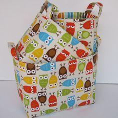 Fabric organizer baskets - set of 3 for $42.