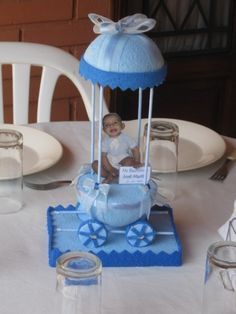 Centros de mesa para bautismos en goma eva - Imagui