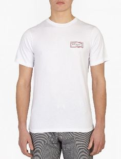 Saturdays Surf NYC White Cotton Logo T-Shirt The Saturdays Surf NYC Cotton Logo T-Shirt for SS16, seen here in white. - - - Crafted from wonderfully soft cotton, this t-shirt from Saturdays Surf NYC features a distinctive logo print to the front http://www.MightGet.com/january-2017-13/saturdays-surf-nyc-white-cotton-logo-t-shirt.asp