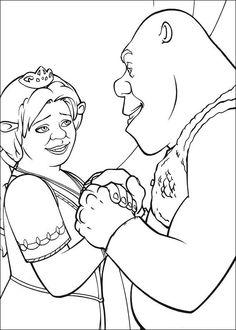 Shrek Tegninger til Farvelægning. Printbare Farvelægning for børn. Tegninger til udskriv og farve nº 41