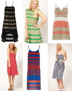 Stylist Diva: 6 #Striped #Sundresses for #Summer!  http://stylistdiva.blogspot.com/2012/05/6-striped-sundresses-for-summer.html