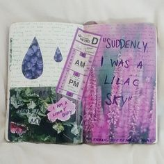 foxtribe: my fave journal entry from a very purple day
