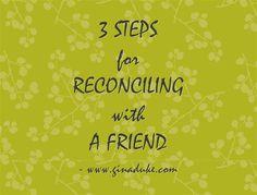 God Can Reconcile Friends - Praise Him!