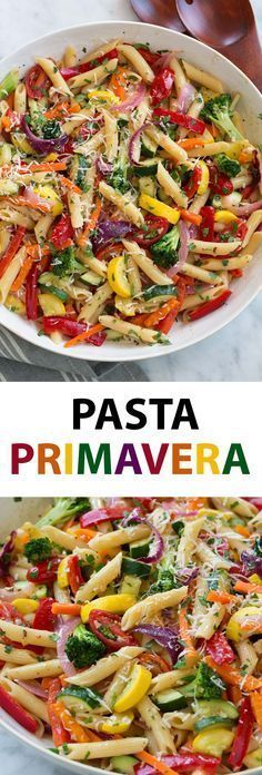 Pasta Primavera - this is a hearty, veggie packed pasta dish that's perfect for . - Pasta Primavera – this is a hearty, veggie packed pasta dish that's perfect for serving year ro - Vegetarian Pasta Dishes, Vegetarian Recipes, Cooking Recipes, Healthy Recipes, Meatless Pasta Recipes, Pasta Salad Gluten Free, Healthy Vegetable Pasta Recipes, Vegetable Entrees, Chicken Pasta Dishes