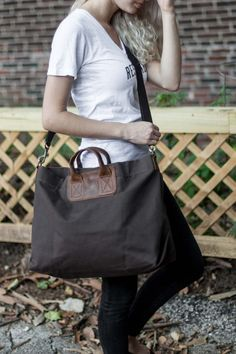Love that this tote is made of waxed canvas! From http://unitedbyblue.com/collections/bags/products/saddleback-tote-bag.