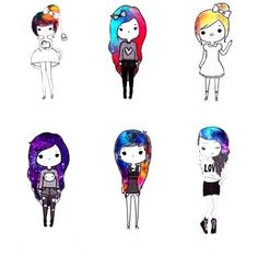 cartoon tumblr drawings easy chibi - Google Search
