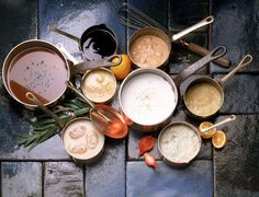 The Five Basic Sauces of French Cooking