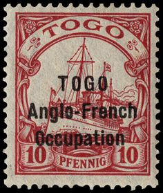 Togo-Anglo-French-Occupation-1915-10pf-carmine-H31-Mint-cat-200-1001-issued