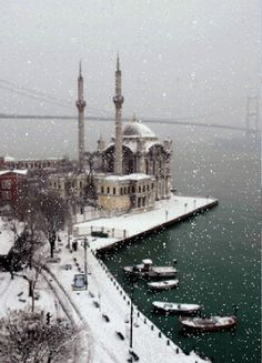 my part of Istanbul! Plaese snow please snow please snow.my part of Istanbul! Plaese snow please snow please snow. Beautiful Places In The World, Places Around The World, The Places Youll Go, Wonderful Places, Places To See, Around The Worlds, Antalya, Beautiful Mosques, Turkey Travel
