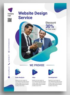 Graphic Design Web Design Agentur Promo Flyer Vorlage PSD Nearly as good as the real thing Article B Web Design Trends, Web Design Quotes, Web Design Agency, Web Design Tips, Web Design Services, Web Design Tutorials, Design Blog, Web Design Company, Layout Design