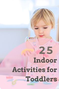 25 [Fun Educational] Indoor Activities for Toddlers. When your little one starts to get a little stir crazy, try out this awesome list of indoor activities for toddlers. Let your imaginations run wild! Indoor Activities For Toddlers, Activities For 2 Year Olds, Toddler Learning Activities, Toddler Preschool, Educational Activities, Fun Activities, Toddler Games, Outdoor Activities, Summer Fun List