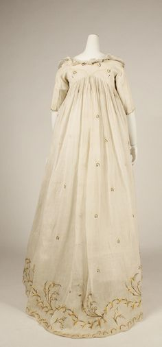 Dress, cotton, late 1790s American or European, The Met