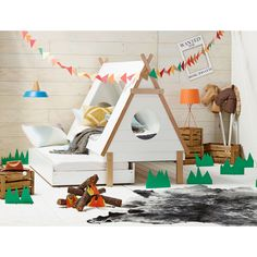 Tee Pee Kids Trundle Bed #Kidsroom
