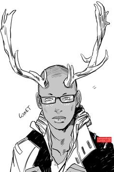 Comet! He likes to drink fancy coffees at cafes and eat donuts. Also his glasses are crooked. Fix those glasses, Comet. Rudolph//Donder//Comet//Cupid//Vixen//Prancer//Dasher//Blitzen//Dancer