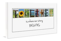 Send any message with a letter art quote plaque.    Alphabet photography by Spell-It-Out Photos