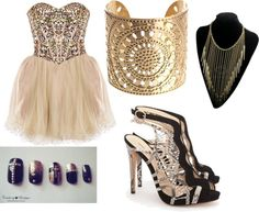 """""""Gold Bitches"""" by djswaggerbrat on Polyvore"""