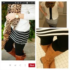 1-5-2015 Striped skirt and white top inspiration